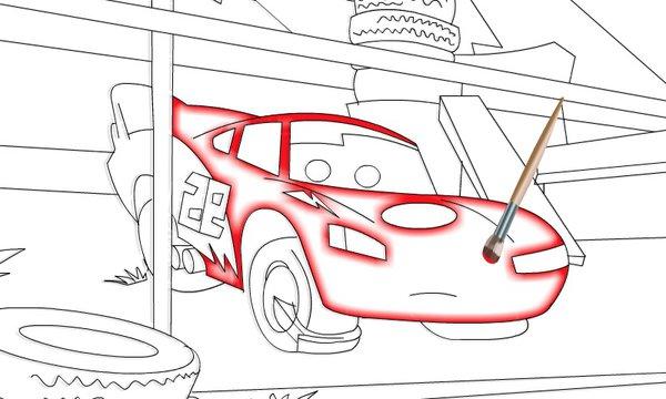 Lightning McQueen Coloring Disney--Games.com