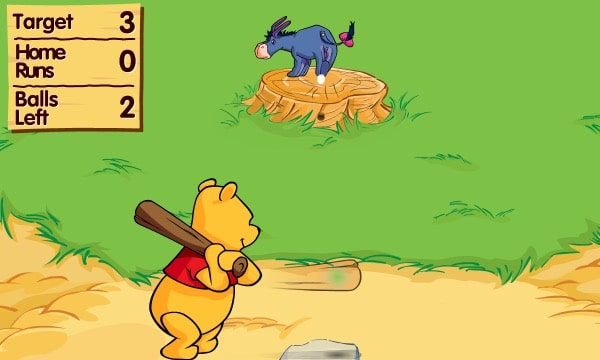 Winnie The Pooh's Home Run Derby Game - Play online at Y8.com